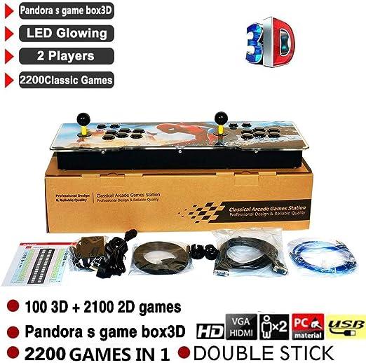 Jannyshop - Juego de videoconsola Pandora Box 100 3D + 2100 2D ...
