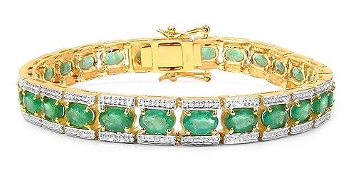 Pulsera de oro amarillo de 14kt y piedras esmeraldas preciosashttps://amzn.to/2R78mFs