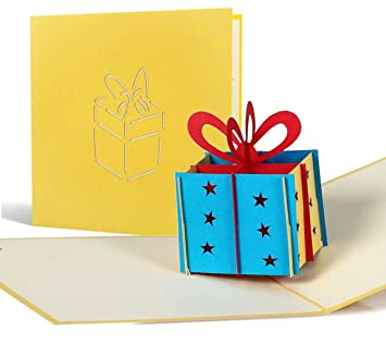 Childrens Birthday Present Card For Cash Funny Pop Up Happy