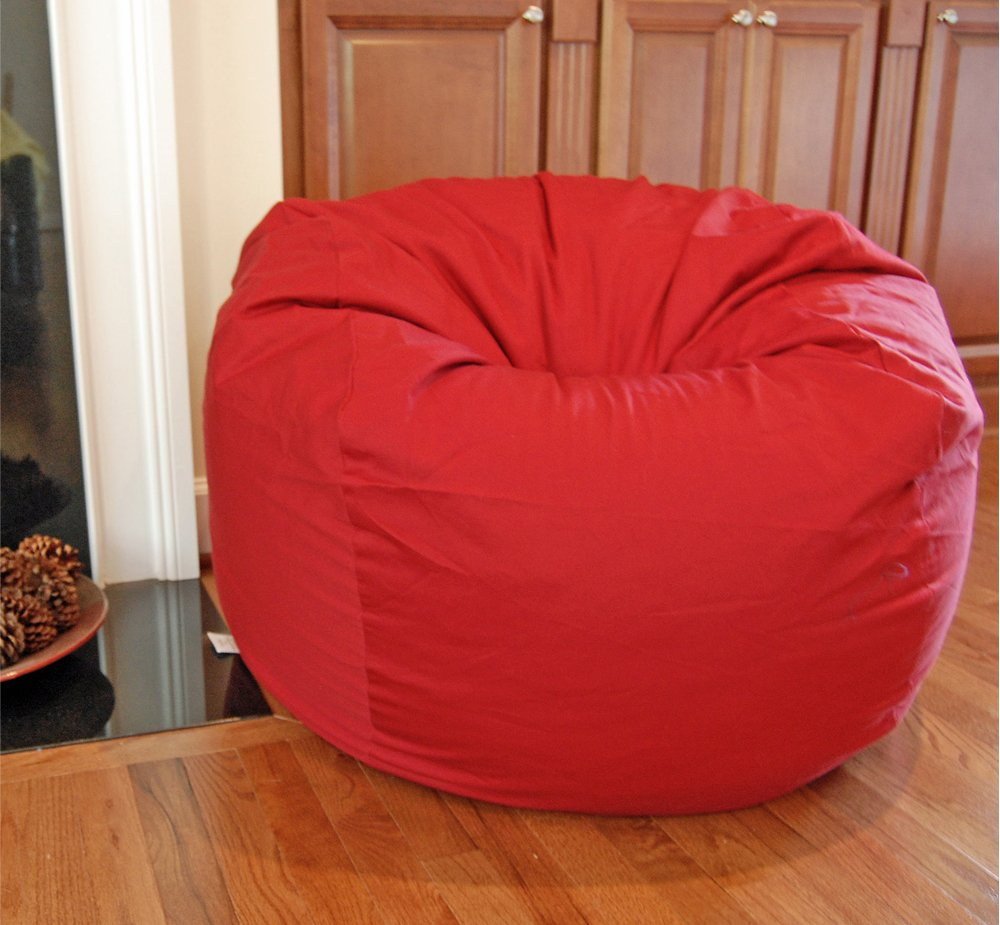 Amazon.com: Ahh! Products Red Organic Cotton Large Bean Bag Chair: Toys U0026  Games