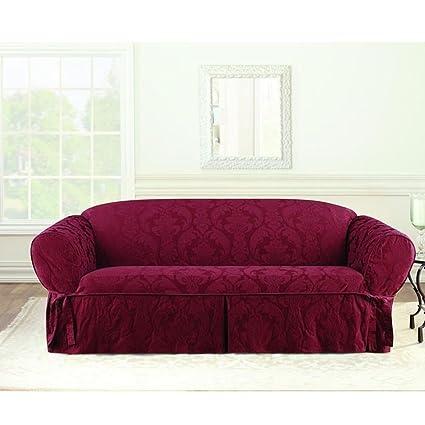 Amazon Com Sure Fit Matelasse Damask Sofa Cover Home Kitchen