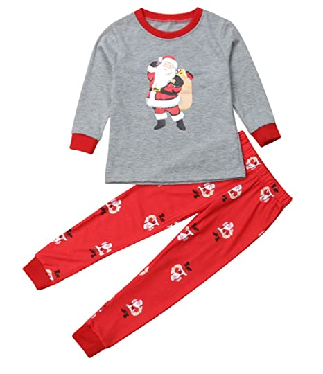394cf19961 Family Matching Pajamas Set Women Baby Kids Sleepwear Nightwear Gifts Christmas  Pajamas Set (Kids