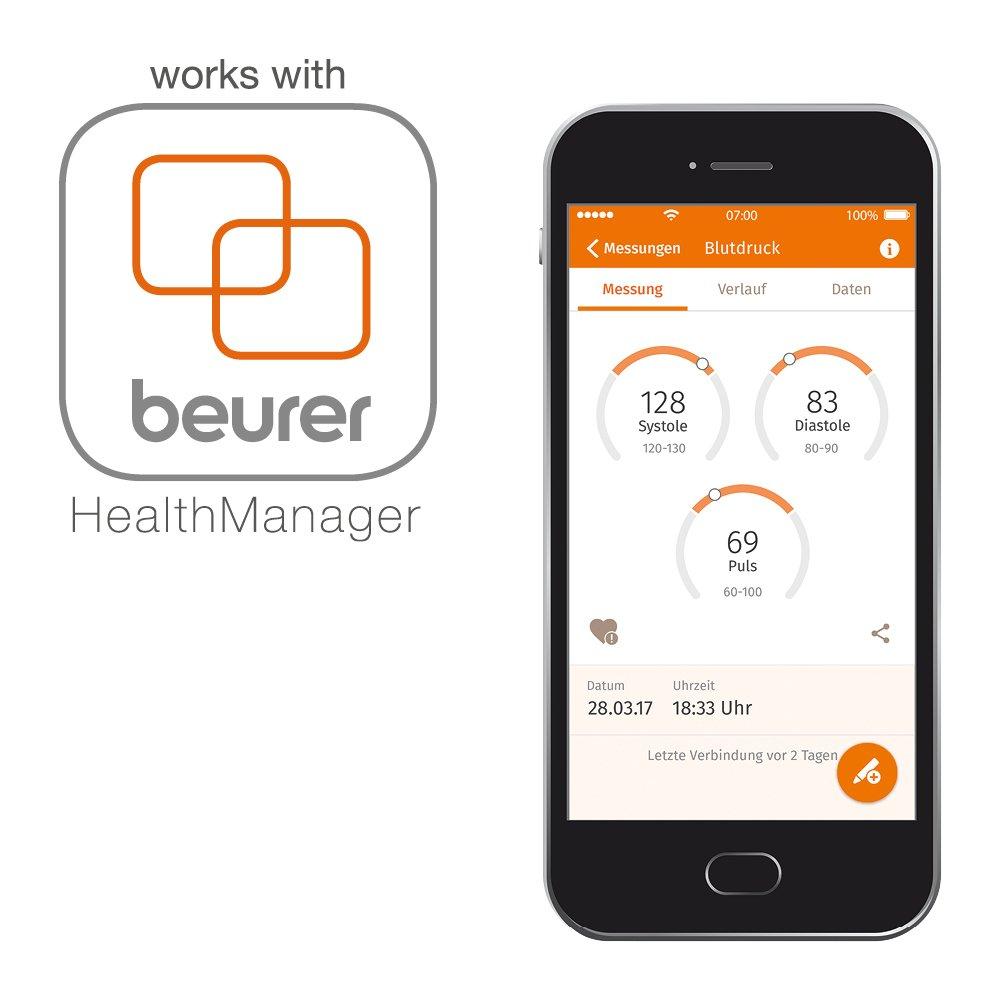 Beurer BC 85 - Tensiómetro de muñeca función bluetooth, color plata: Amazon.es: Salud y cuidado personal