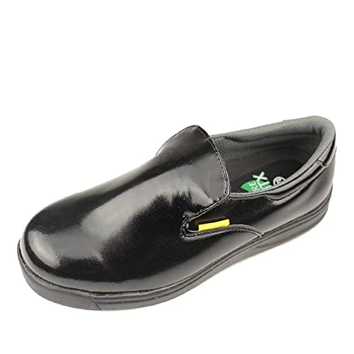 DDTX Unisex-Adult'Slip y Aceite Resistente a la Industria Ligera Zapatos de la Industria Negro(42) 70jINq