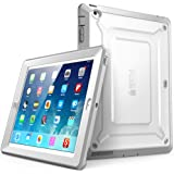 SUPCASE [Heavy Duty] Apple iPad Case [Unicorn Beetle Pro Series] Full-Body Rugged Hybrid Protective Cover with Screen Protector for 3rd/4th Generation, White/Gray (Sup-iPad4-BeetlePro-White/Gray)