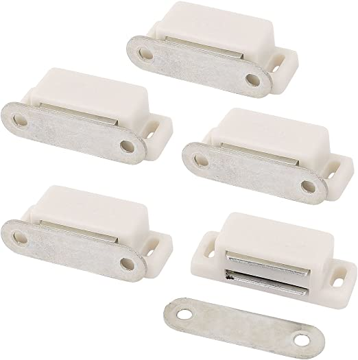 Cabinet Door Stopper Self Aligning Magnetic Catch Stop Latch White X 5 Amazon Ca Home Kitchen