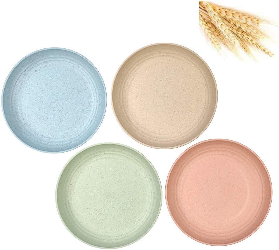 Unbreakable Dinner Plates and Lightweight Salad Plates-Dishwasher & Microwave Safe Set of 4 (6inch)