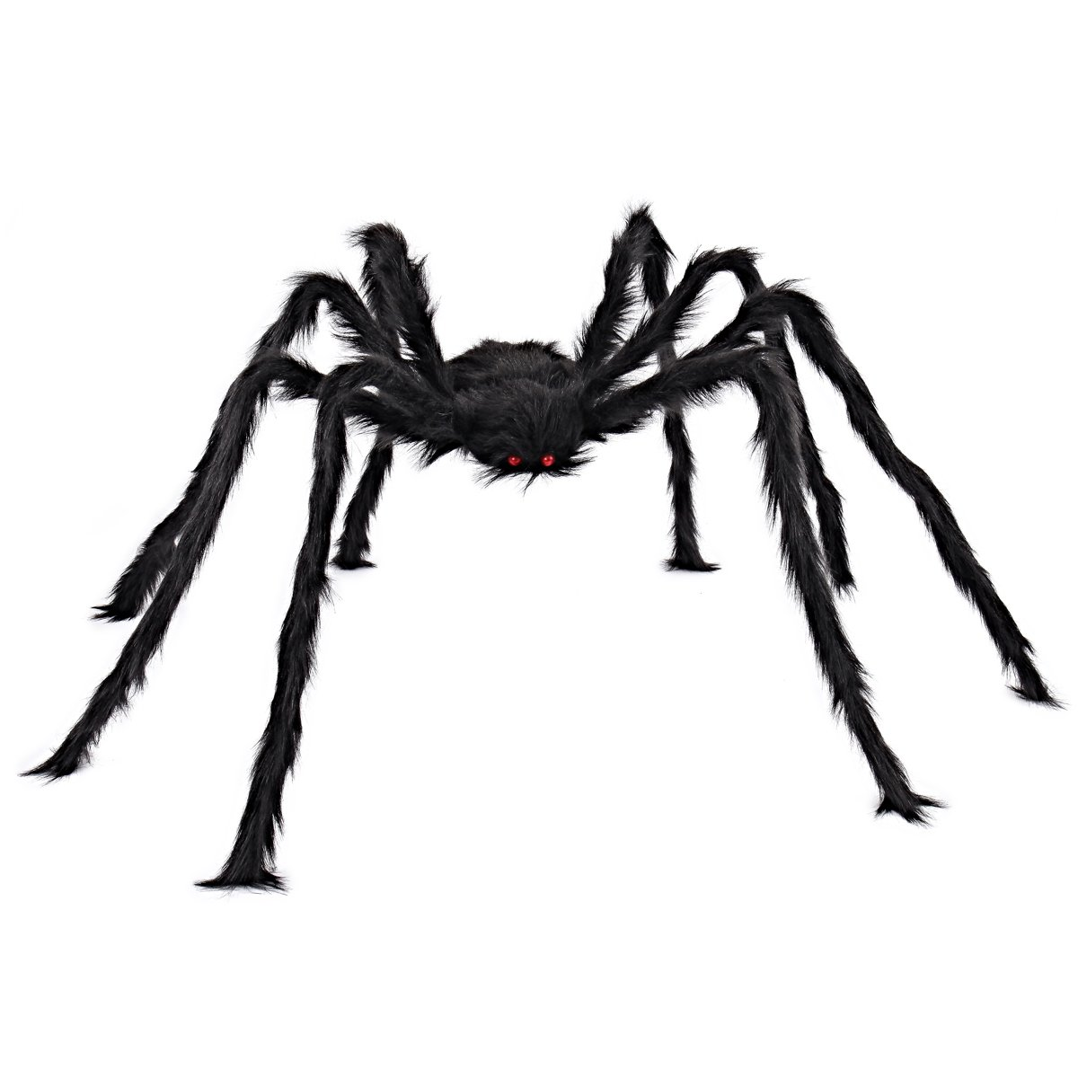 JOYIN 5 ft Huge Halloween Outdoor Decorations Hairy Spider (Black)