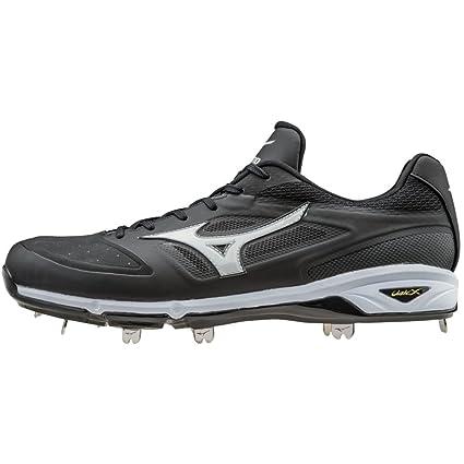f5652a1b31e Mizuno Dominant IC Adult Men s Low Cut Metal Baseball Cleats - Black    White (Men s