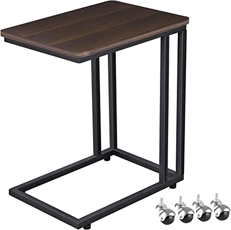 VASAGLE Mobile Snack Table Sofa Side Table for Coffee or Laptop with on french provincial kitchen table, mobile home remodeling ideas, cottage kitchen table, cabin kitchen table, apartment kitchen table, money on kitchen table, modular kitchen table,