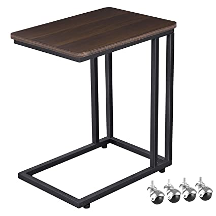Fabulous Vasagle Mobile Snack Table Sofa Side Table For Coffee Or Laptop With Metal Frame And Casters Modern Piece Ulnt50Z Ibusinesslaw Wood Chair Design Ideas Ibusinesslaworg