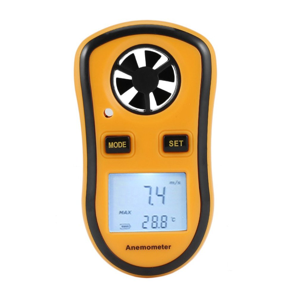 GM816 30m/s (65MPH) LCD Digital Hand-held Wind Speed Gauge Meter Measure Anemometer Thermometer