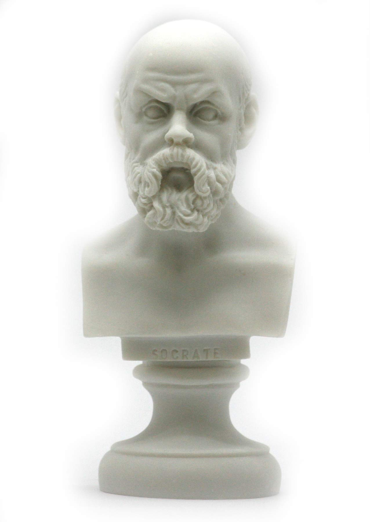 Greek Philosopher SOCRATES Alabaster Bust Head Statue Sculpture Décor 5.9΄΄ by Unknown