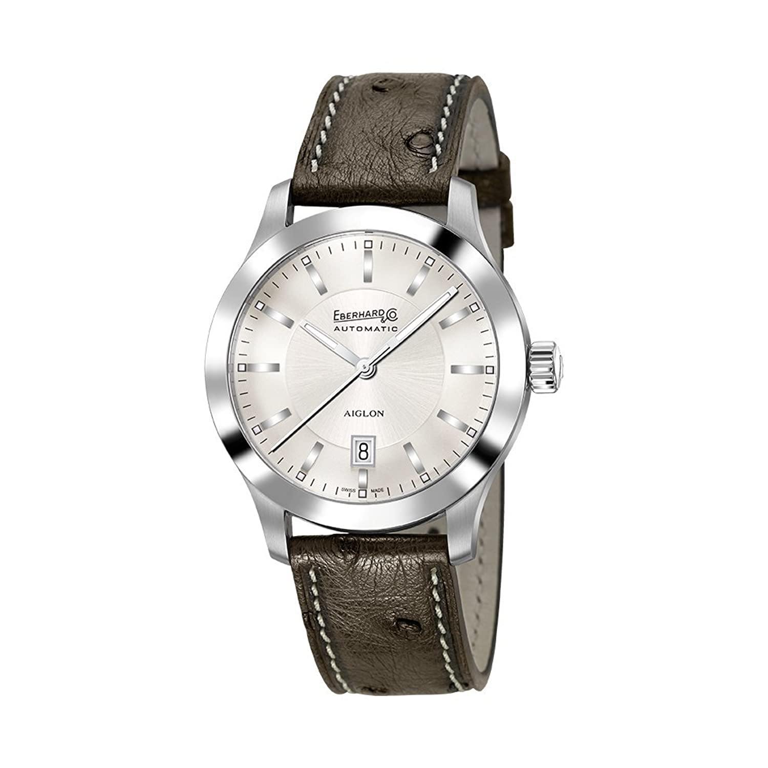 Watch Eberhard Aiglon Grande Taille Automatic Steel Leather 41030.S CP