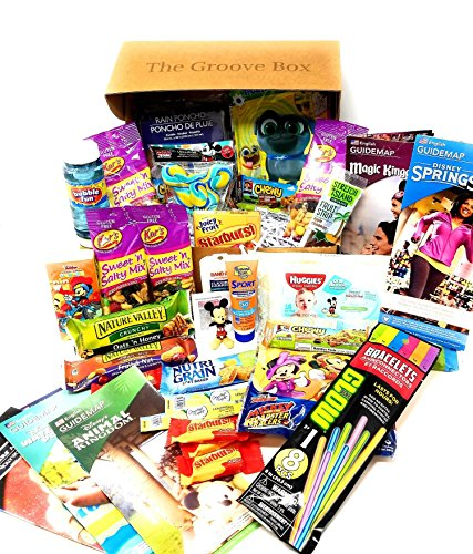 The Disney Theme Park Groove Box - Essential Park Disney Maps, Snacks & Necessities Perfect for your Disney World Vacation by Groovy Snack Box