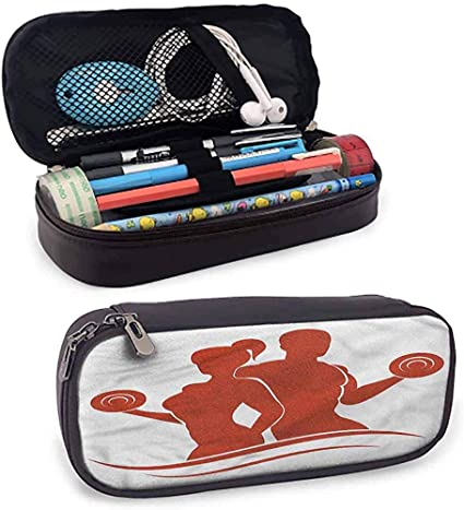 Fitness Estuche para lápices Bolsa Estuche para lápices Hombre y mujer musculosos: Amazon.es: Oficina y papelería
