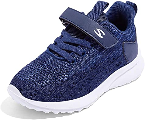 Zapatillas De Correr para Niño y Niña Zapatos De Deporte Chico Velcro Exterior Interior Ligeras Transpirable Trainers Running Sneakers para Unisex-Niños 26-37: Amazon.es: Zapatos y complementos