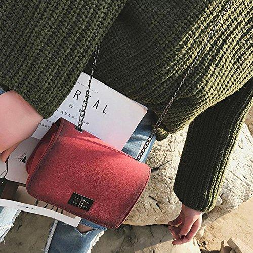 Bandoulière à Hasp Crossbody à Sling Sacs Fille Solide Sac Chaîne Messager Bag Main La Rouge Cabina épaule Sac Sac Femmes ICqxpfwnA