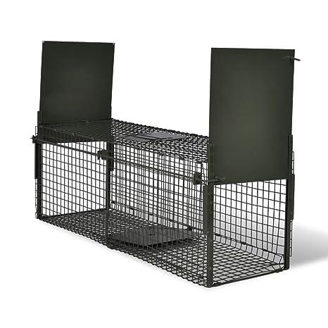 Vislone Plegable 2-Puerta Trampa para Animales Jaula Trampa para Ratón Ratas Zorros Conejos Control