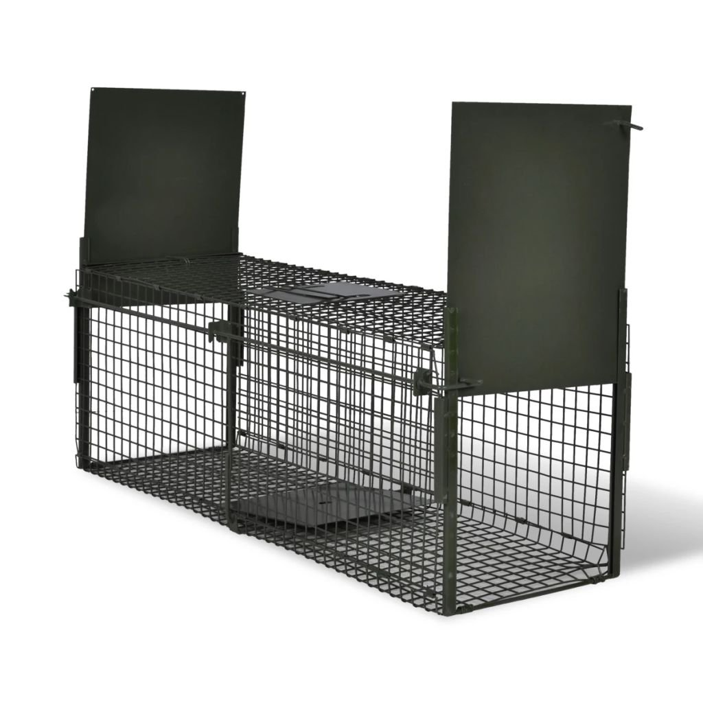 Festnight Humane Cage Trap 2 Doors Humane Animal and Rodent Cage Trap 100 x 26 x 31 cm