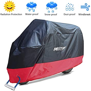 Motorcycle Outdoor Dust Rain Sun UV Protector Waterproof Cover L size