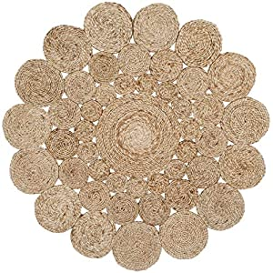 Safavieh Natural Fiber Collection NF363A Hand-woven Jute Area Rug, 3′ x 3′ Round