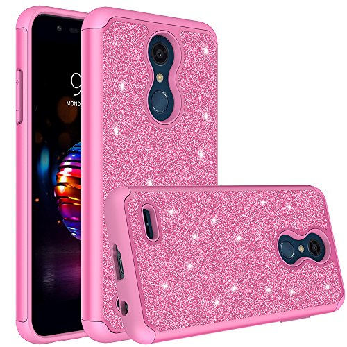 [Coverlab] Shock Proof Phone Case Compatible for LG K30 Case, LG Premier Pro LTE, LG K10 2018/K10(2018) Protective Hybrid Soft Silicone Cute Girls Women Cover