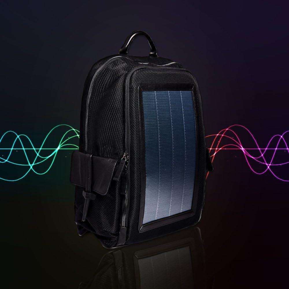 Black HANERGY Solar Backpack Business Travel Bag Casual Daypacks-Top Series