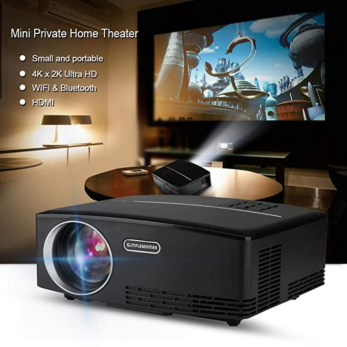 Portátil Mini LED Proyector 4K x 2K Ultra HD HDMI Reproductor ...