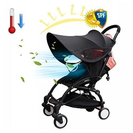 Parasoles Protección solar para cochecitos, Biback Cochecito de bebé Sombrilla Cubierta Anti-UV Universal