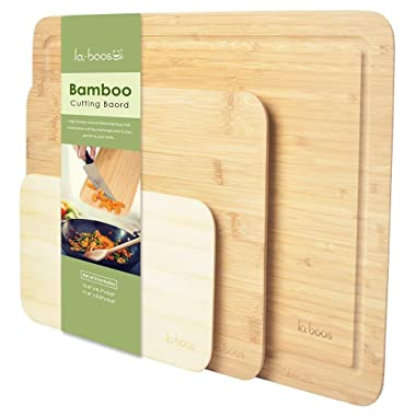 Two-Color Smart Cutting Board, 45-Degree Angle Design, Natural Bamboo, Chopping Board (Set of 3)