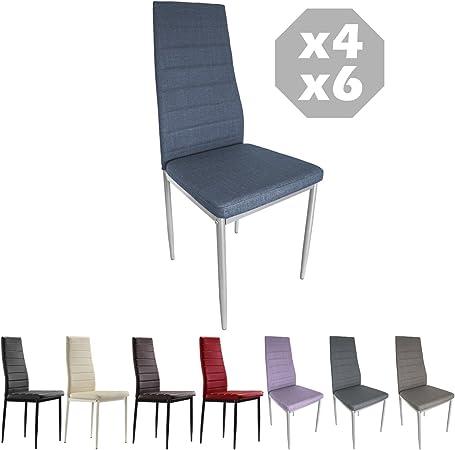 sillas de comedor con patas metalicas