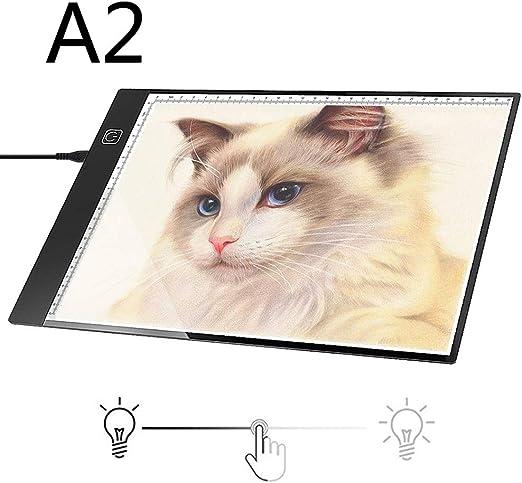 EJOYDUTY Tablero de trazado de la Caja de luz Grande A2 LED, Pintura Ligera del Diamante del cojín del Dibujo, Brillo Regulable, para Artistas Dibujo Animación X-rayVisualización: Amazon.es: Hogar