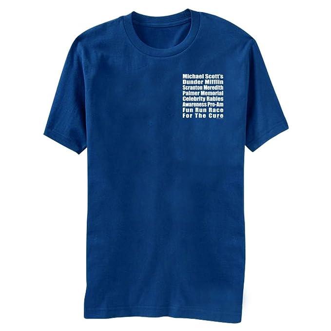 The Office Michael Scott's Fun Run Race Blue T-Shirt Tee Small