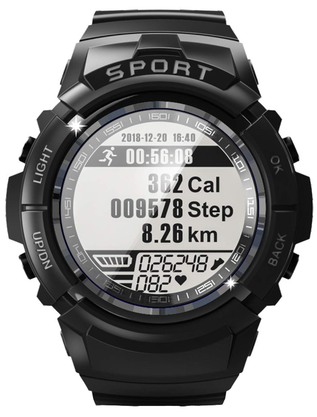 Mens Military Outdoor Sports Watch Compass Heart Rate Monitor Pedometer Calorie Counter Waterproof Digital Watch by findtime