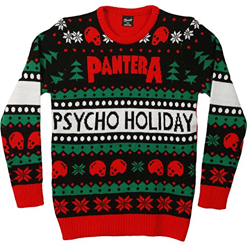 Pantera Men's Ugly Christmas Sweater Sweatshirt Medium Black by Pantera