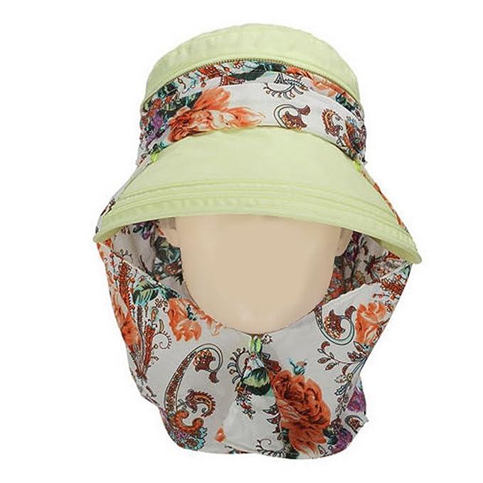 Crazy Cart Visor Hats Wide Brim Cap UV Protection Sun Hats For Women  (Flower Pattern 70f9c6589d1