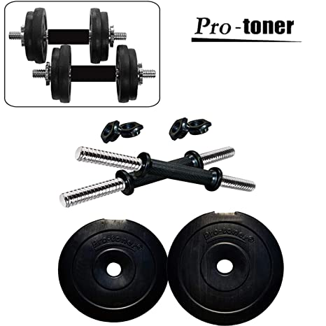 f3bbcb25d53 Buy Protoner PVC Adjustable Dumbbell Set Online at Low Prices in India -  Amazon.in