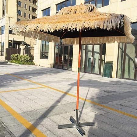 Wwwrl Madera Playa Sombrilla Para Patio Cuadrado 1 8x1 8m
