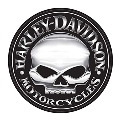 harley davidson motorcycle Willie G Scull license plate tag sign decal logo HD