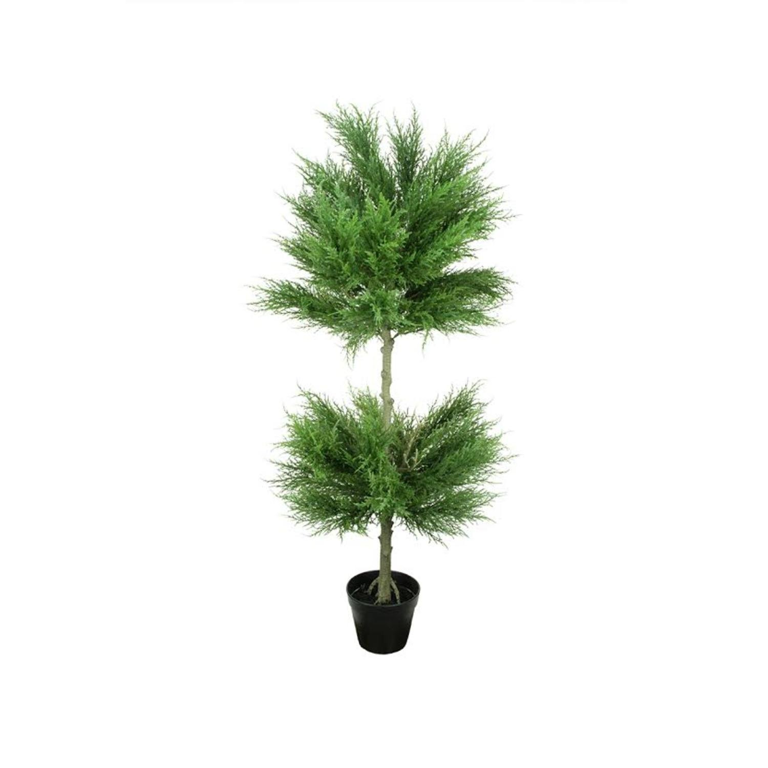 Northlight 44'' Potted Artificial Cypress Double Ball Topiary Tree by Northlight