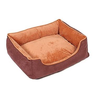 Jiyaru Cama para Perro Gato Sueva Cama de Mascota Sofá Cesta Resistente al Agua Fácil Limpieza café M: Amazon.es: Productos para mascotas