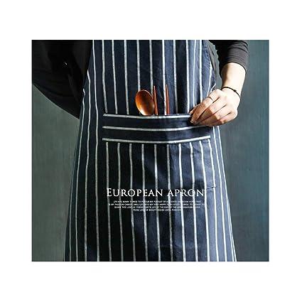 KICCOLY ✅Delantales Cocinero Cocinar Paño Apron Mujeres Hombre sin Mangas Delantal Cocina Hornear Café Hotel Restaurante Camarero Hogar Barbacoa DIY ...