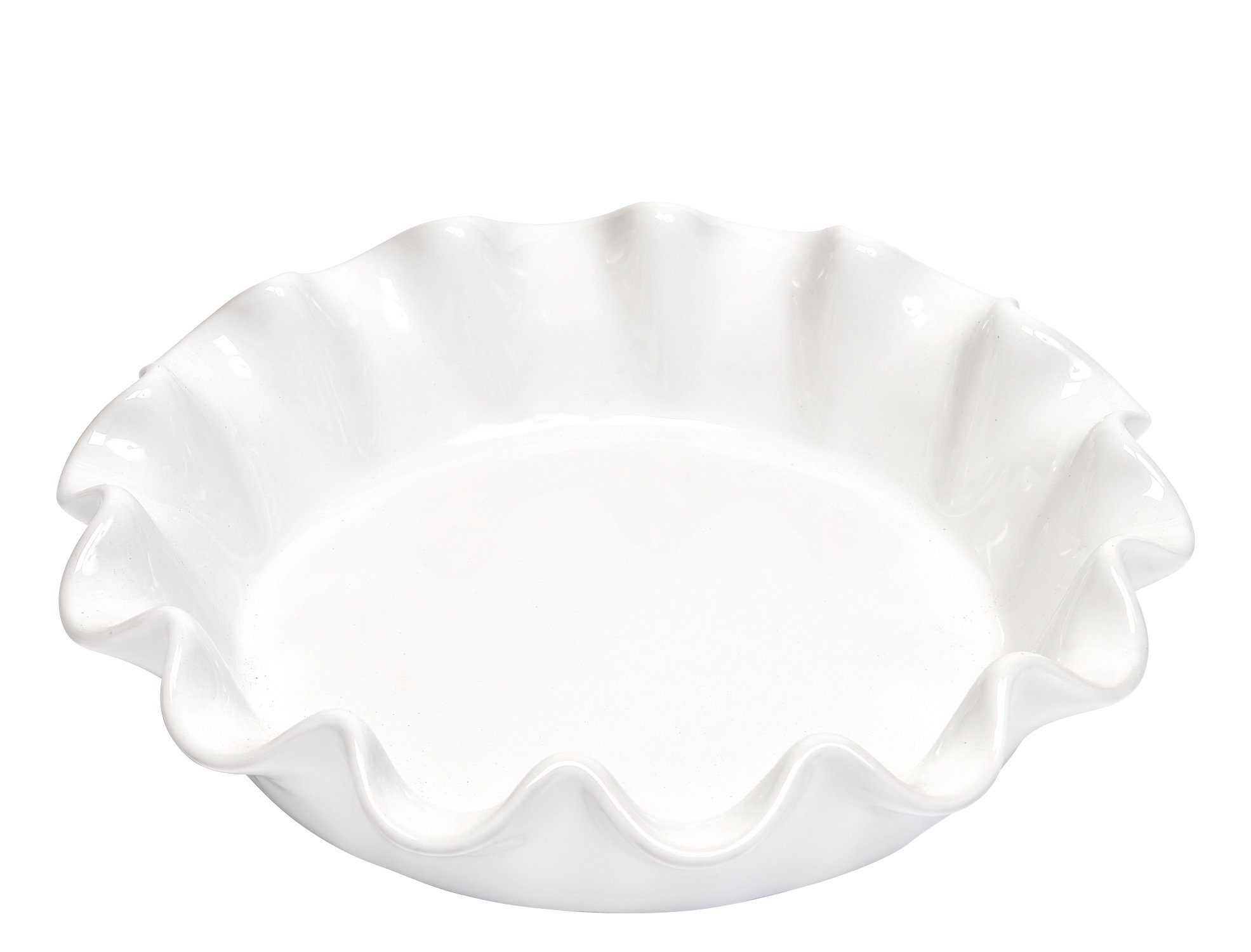 Emile Henry Made In France Flour Ruffled Pie Dish 10.5'' X2.5''