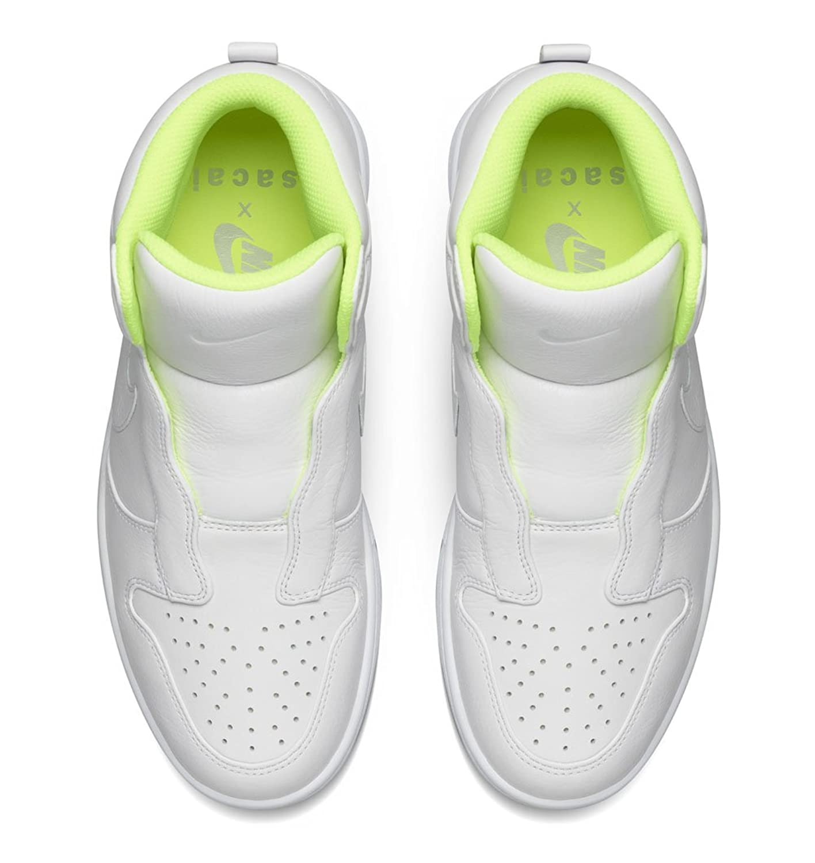 Amazon.com   Nike Women's NikeLab x Sacai Dunk Lux SP White Wolf Grey Volt  Fashion Shoe 8 US   Fashion Sneakers