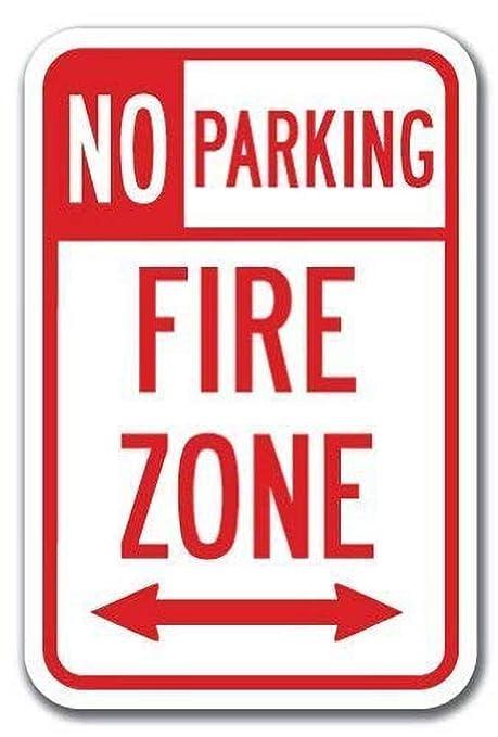 HiSign No Parking Fire Zone Double Arrow Retro Cartel de ...