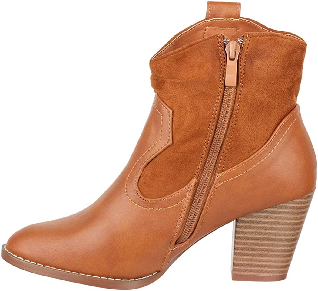 Elara Bottes Femme Bottines de Cowboy Chunkyrayan