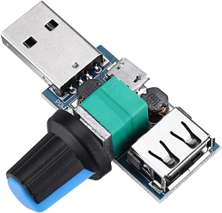 ILS USB Fan Speed Controller Module Reducing Noise Multi-stall Adjustment Governor DC 4-12V