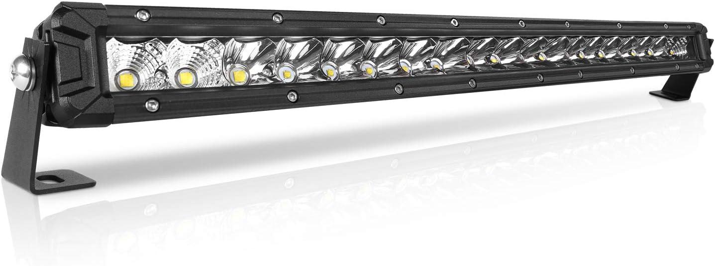 "LED Light Bar  20/"" 180W Single Row Super Slim Flood Spot 6000K Driving ATV UTV"