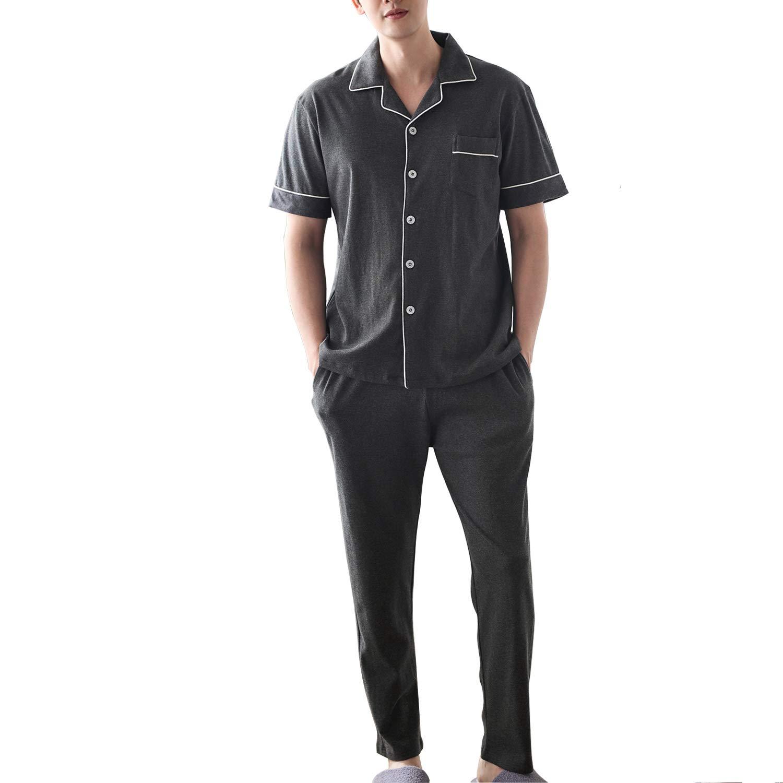 (パーキスボビー) Perkisboby パジャマ メンズ 半袖 綿100% 春・夏 ルームウェア 紳士 ポケット付 便利服 部屋着 無地 コットン 上下セット シルクパジャマ オシャレ 気持ち良い 2カラー   パジャマ 通販